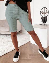 Къси панталонки в цвят мента - код 8256