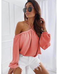 Bluză pentru femei în culoare coral - cod 6561
